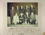 """Group photograph of astronauts, signed, dedicated to Henri Landwirth, """"the keeper of the Cape"""""""
