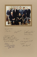 Group photograph with logo of Mercury Seven Foundation with dedications to Henri Landwirth