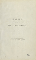 Papers relating to the African Company