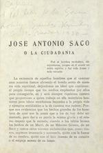 Estudio sobre las ideas políticas de José Antonio Saco