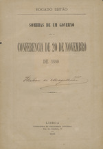 Sombras de um governo, ou, a conferencia de 20 de novembro de 1880