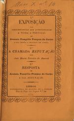 Exposição das vinda a Portugal de Arsenio Pompilio Pompeu de Carpo e sua prisão e processo em Lisboa