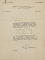 Letter on Bethune-Cookman College letterhead