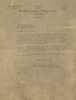Letter on Daytona-Cookman Collegiate Institute letterhead