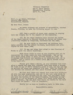 Citizens Committee letter to A. Quinn Jones and his reply