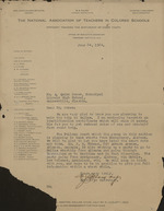The National Association of Teachers in Colored Schools letter to A. Quinn Jones