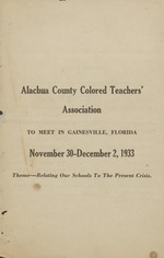 Alachua County Colored Teachers' Association Conference Program
