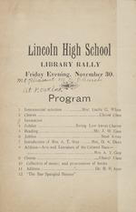 Lincoln High School Library Rally Program