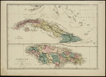 Map of Cuba and Jamaica