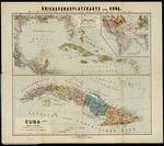 Kriegsschauplatzkarte von Cuba, Mittel-Amerika, Spanien und die Vereinigten-Staaten