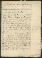 Diary of Moravian missionaries in St. Croix
