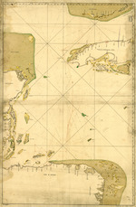 [Map showing portion of the Caribbean Sea from Florida Keys to Nicaragua]