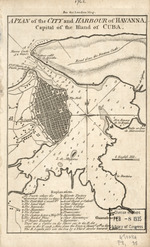 A plan of the city and harbour of Havanna, capital of the island of Cuba