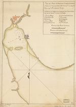 Plano del Puerto de Matanzas situado en la costa del norte de la ysla de Cuba en 230 10 ms. de latd. N. y en longd. de 293 gs. 40ʹ segn. el meridiano  de Thenerife