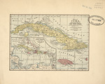 Map of Cuba with general map of the West Indies