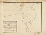 Plano del puertecito de la Chorrera situado una legua al O. de la Havana