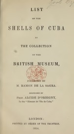 List of the shells of Cuba in the collection of the British Museum