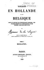 Voyage en Hollande et en Belgique sous le rapport de l'instruction primaire