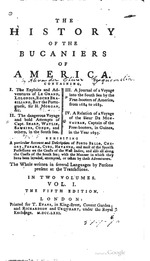 The history of the bucaniers of America