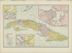 Rand McNally new library atlas map of Cuba