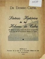 Sintesis histórica de los hebreos de Cuba