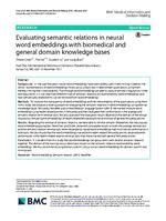 Evaluating semantic relations in neural word embeddings with biomedical and general domain knowledge bases