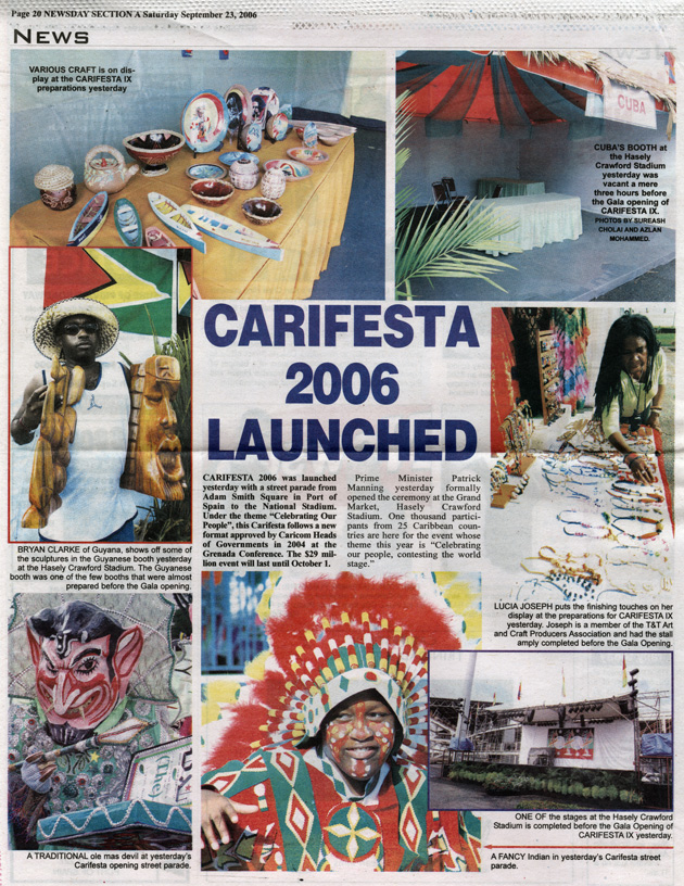CARIFESTA 2006 launched