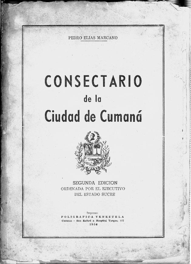 Consectario de la ciudad de Cumaná - Front Cover 1