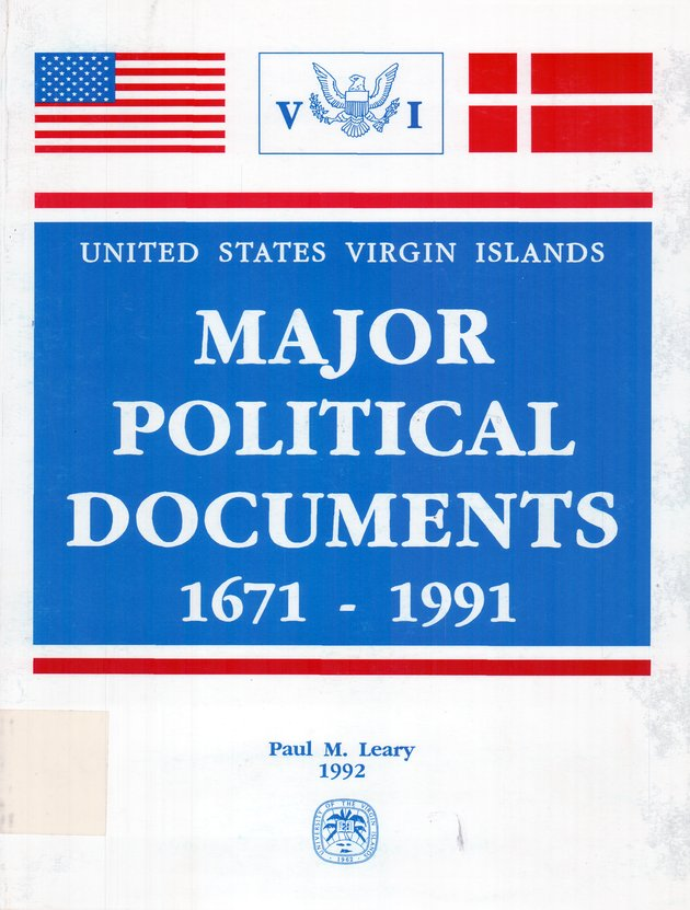 Major political & constitutional documents of the United States Virgin Islands - Front Cover