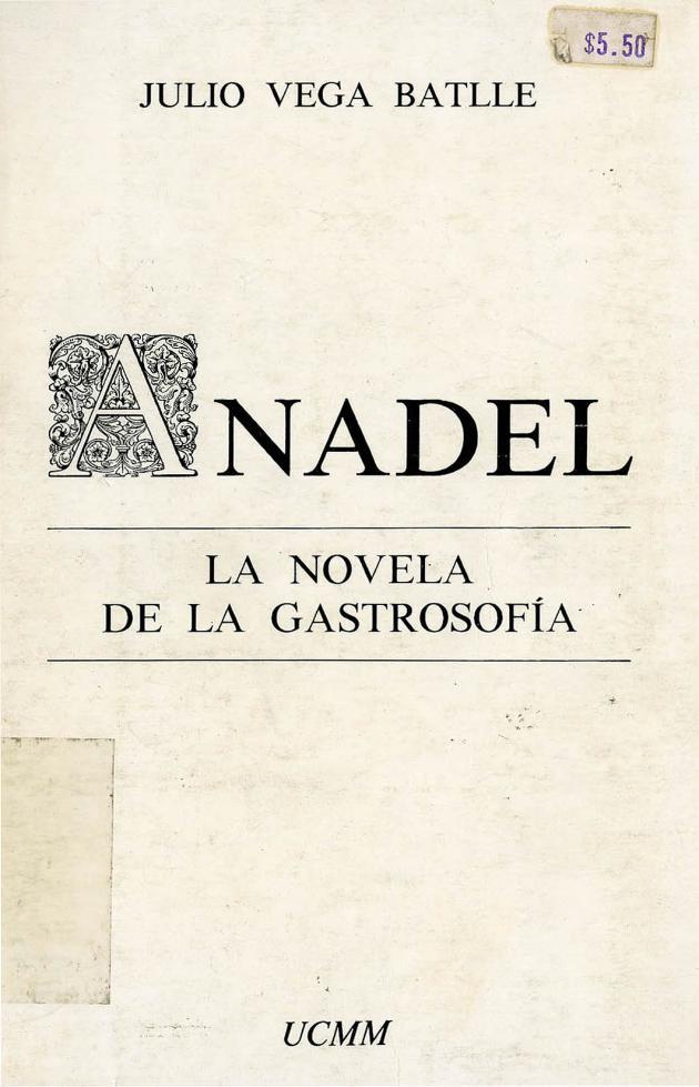 Anadel: La novela de la gastrosofia - Front cover