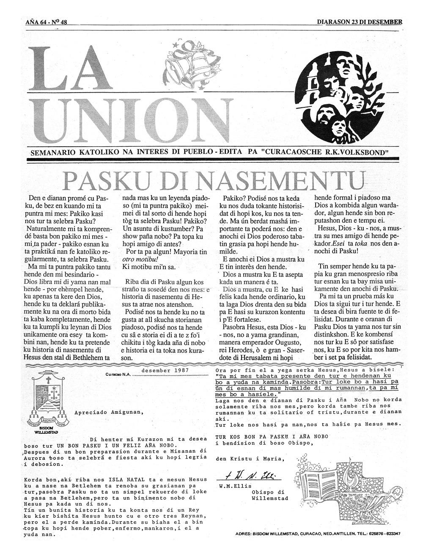 La Union. December 23, 1987. - Page 1