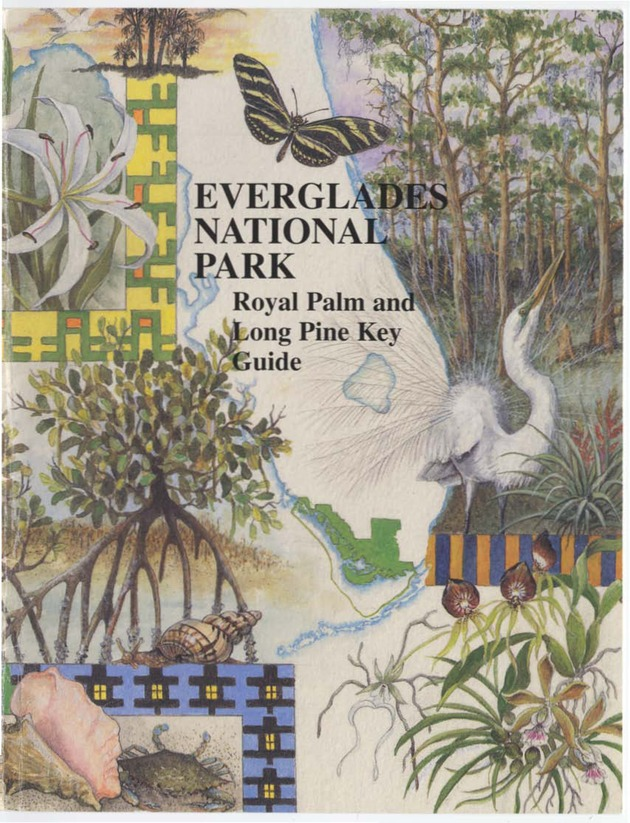 Everglades National Park Royal Palm and Long Pine Key Guide - Front Cover 1