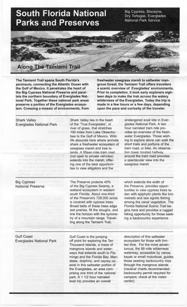 Along the Tamiami Trail - Page 1