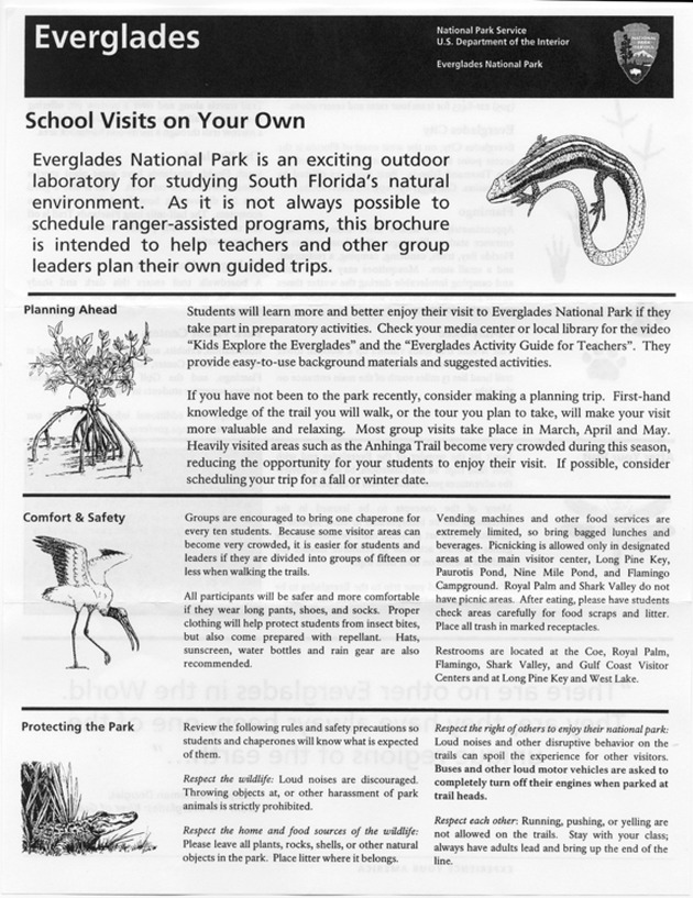 Everglades: School Visits on Your Own - Page 1