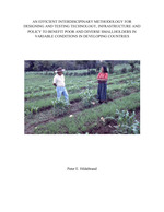 An efficient interdisciplinary methodology for designing and testing technology, infrastructure and policy to benefit poor and diverse smallholders in variable conditions in developing countries