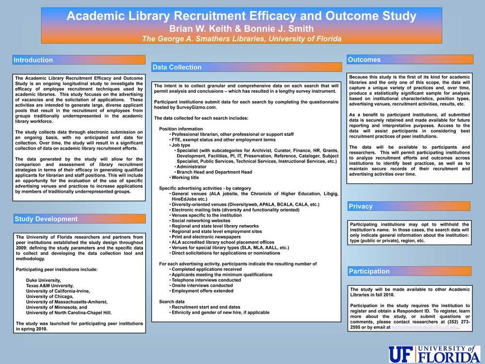 Academic Library Recruitment Efficacy and Outcome Study (poster)