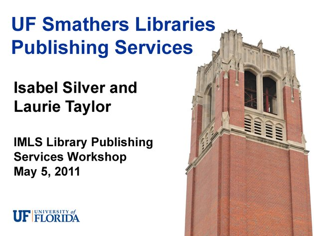 UF Smathers Libraries Publishing Services - Page 1