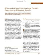 QTLs Associated with Crown Root Angle, Stomatal Conductance, and Maturity in Sorghum