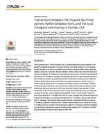 Interactions between the invasive Burmese python, Python bivittatus Kuhl, and the local mosquito community in Florida, USA