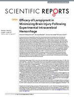 Efficacy of Laropiprant in Minimizing Brain Injury Following Experimental Intracerebral Hemorrhage