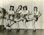 USO Hostesses - Haines sisters, Norma Johnston. Performing at St. Mary's U.S.O.