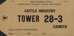 Identification Tag, Cattle Industry for Gatun Commisary, PCC, Cristobal, CZ