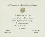 Invitations to events of the Canal Zone Theodore Roosevelt Centennial