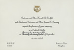 Invitation from Governor Parfitt for a Cocktail-Buffet