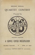 "2nd Annual ""Spebsqsa"" Quartet Program"