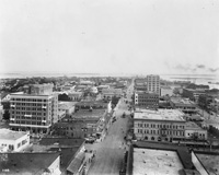 An Aerial view of Tampa above Lafayette Street.