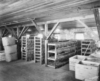 The Interior of the tobacco warehouse at A. Santaella and Company.