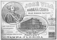 "An Adviertisement for the Berriman Brothers Cigar Company in West Tampa from the 1912 ""Tobacco Leaf."