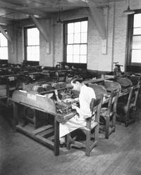 A Cigar maker at Gradiaz Annis and Company.