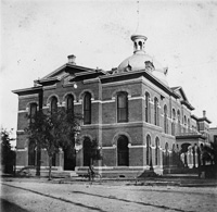 An Early view of the Hillsborough County Courthouse on Franklin and Lafayette Streets.